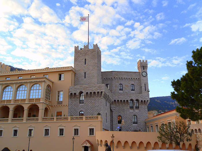 Palace Princier, in the heart of the old town of Monte Carlo.