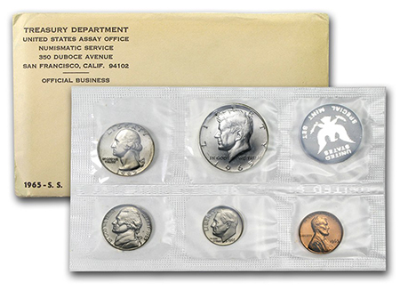 1965 Special Mint Set, original packaging.