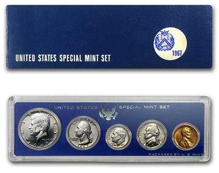 1967 Special Mint Set, Mint's updated packaging.