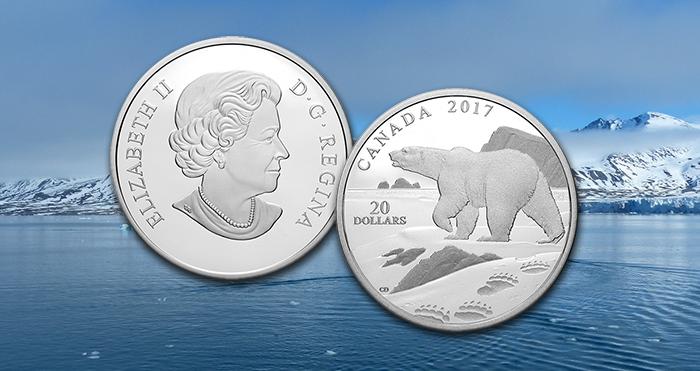 Canada polar bear coin