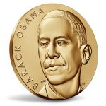 President Obama Receives Bronze Medals Emblemizing Each Term in Office