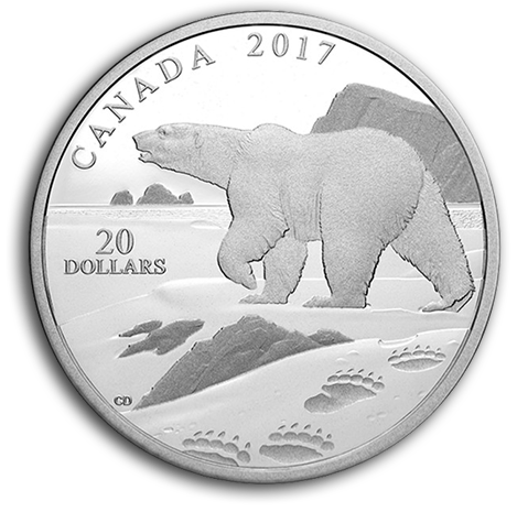 canada 2017 $20 Natures imp polar bear b copy