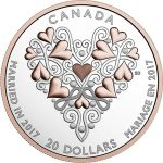 Canada: That Special Day for Couples Celebrated with Unique Silver and Rose-Gold Coin