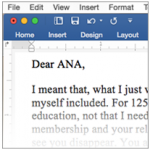 An Intervention Letter to the ANA