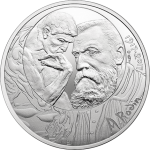 "France: Sculptor Rodin features on stunning silver coin in ongoing ""7 Arts"" series"