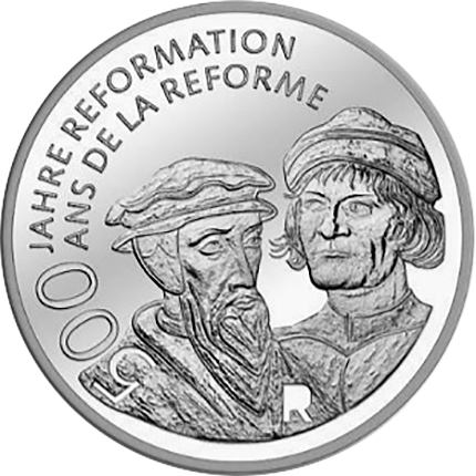 Switzerland 2017 500 years of Reformation 20 Francs Silver Coin UNC