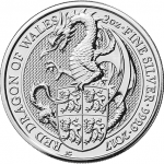 "United Kingdom: Third ""Queen's Beasts"" bullion coin issued, featuring ""Red Dragon of Wales"""