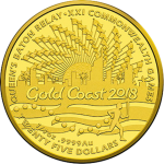 Australia: Gold and silver coins issued to celebrate upcoming Commonwealth Games, Gold Coast 2018