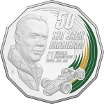 Australia: Legendary racing personality Jack Brabham featured on new commemorative coin