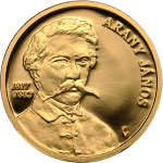 Hungary: Esteemed poet and author János Arany honoured on new gold and silver coins