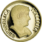 Italy: New gold coin features smaller-size €10 denomination and Emperor Hadrian