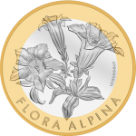 "Switzerland: Swiss Mint releases ""Enzian,"" the second coin in the Flora Alpina series"