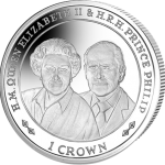 Falkland Islands: Crown coins issued in honour of Queen's platinum wedding anniversary