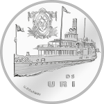 "Switzerland: New ""Steamboat"" coin series launched with Uri paddle steamer"