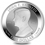 British Virgin Islands: Crown coin remembers centenary birth year of JFK