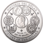 Spain: Comprehensive history of the dollar creatively illustrated on new kilo silver coin