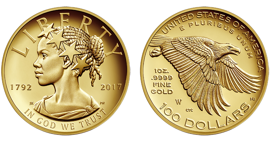 2017 American Liberty high relief gold coin obverse and reverse