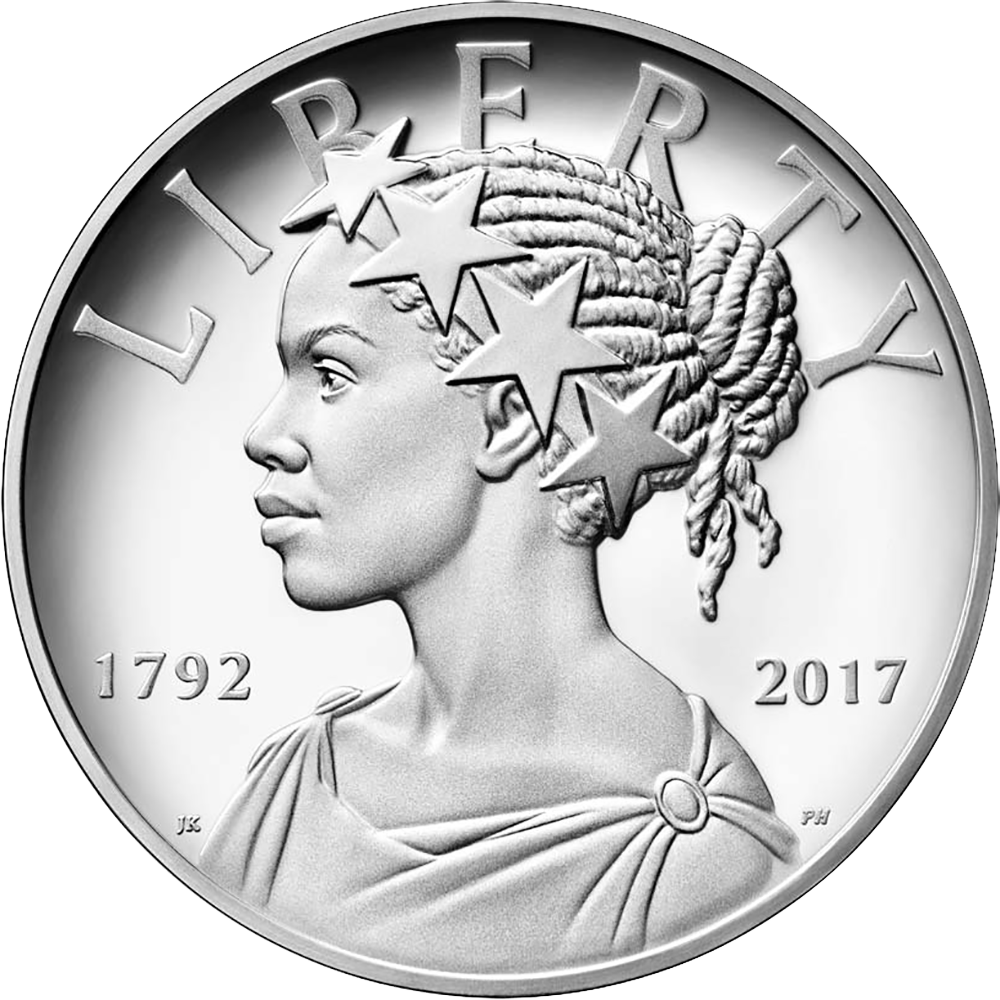 obverse of 2017-W American Liberty silver medal