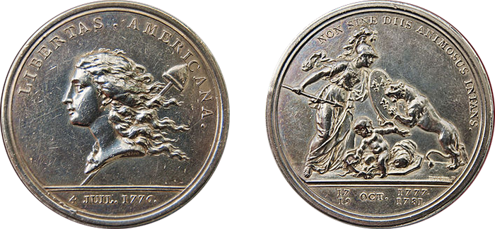 Libertas Americana medal obverse and reverse