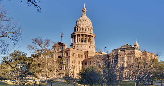 The Texas state capitol building, Austin. (Photo by Ed Uthman)
