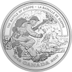 Canada: Presentation of new silver coin marking the 75th anniversary of the Battle of Dieppe Raid