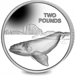 British Antarctic Territory: Southern right whale features on new crown coin