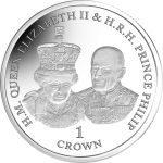 Ascension: 70th wedding anniversary of Elizabeth and Philip celebrated on latest silver crown coin