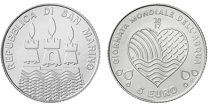 San Marino: World Water Day features on silver coin in BU year set ...
