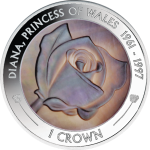 Ascension Island: Gold and silver coins pay tribute to Diana, Princess of Wales, 1961–1997