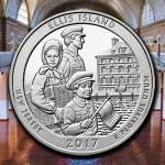 U.S. Mint opens sales for rolls and bags of Ellis Island quarters at noon today
