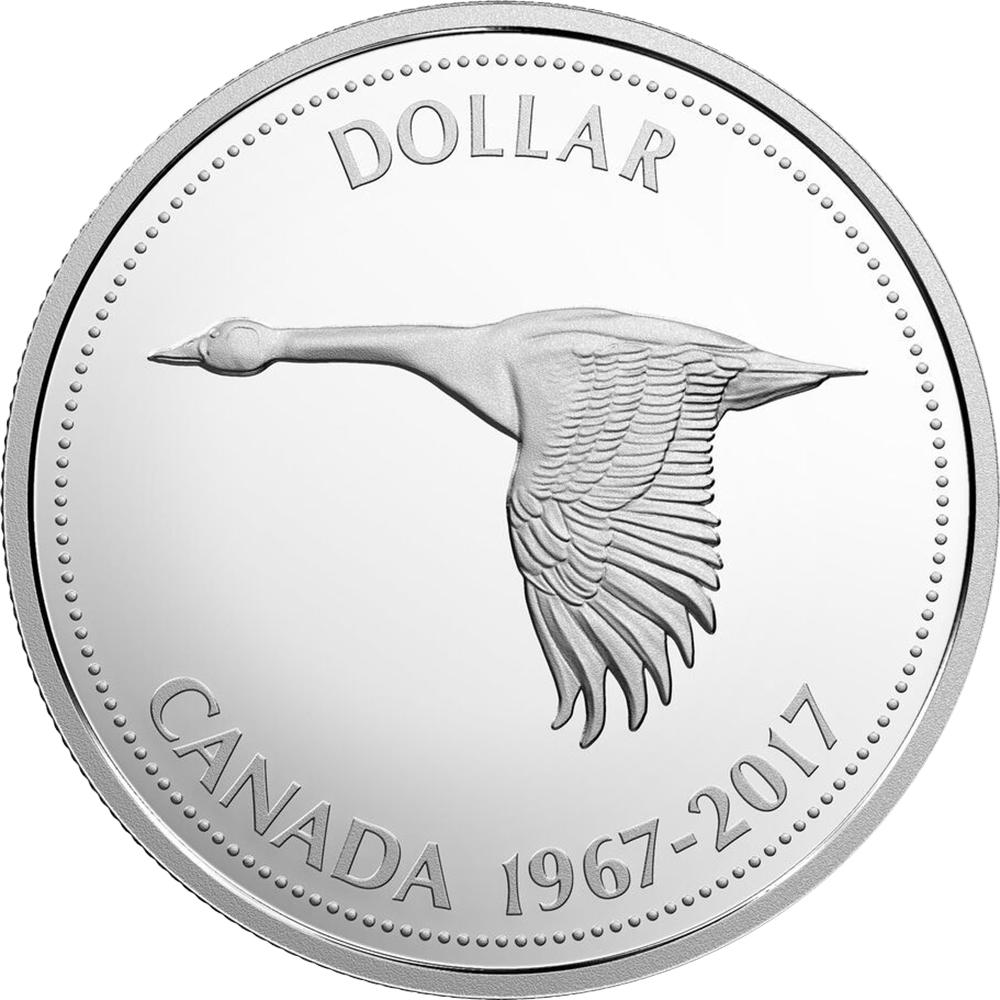 Canada Confederation Centennial 2017 dollar comparison reverse