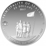 Sealand: For 50th anniversary of independence, new silver coin celebrates a remarkable story