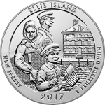 2017 America the Beautiful–Ellis Island 5-oz. silver Uncirculated coin available September 7