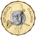 Italy: First bi-metallic five euro coin dedicated to the memory of comedian Totò
