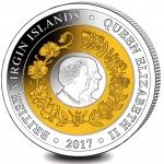 British Virgin Islands: Unique tri-colour coin celebrates milestone wedding anniversary of Elizabeth and Philip