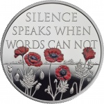 United Kingdom: Remembrance Day, the end of the Great War, displayed on new crown coin