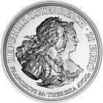 Austria: Tercentenary of the birth of Empress Maria Theresa marked with second silver coin