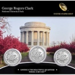 George Rogers Clark National Historical Park 2017 three-coin set available November 27