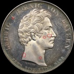 Counterfeit detection: 1825 Bavaria coronation thaler