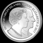 British Virgin Islands: Ultra-high relief silver piedfort coin marks Elizabeth and Philip's Platinum Wedding Anniversary