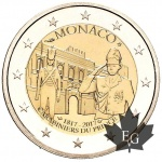Monaco: Bicentenary of the foundation of the Prince's Guard celebrated on new €2 coin