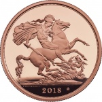 United Kingdom: 2018 sovereigns with special privy mark honour 65th anniversary of Queen's coronation