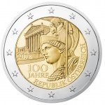 Austria: Centenary of the Austrian Republic is the focus for 2018-dated €2 coin