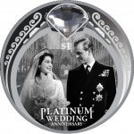 New Zealand: Queen's Platinum Wedding Anniversary celebrated on new Proof $1 coin