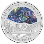 Australia: New Year's Eve celebrated with new silver Sydney skyline colour coin