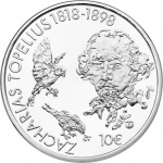 Finland unveils new silver coin to remember the 200th anniversary of the birth of Zacharias Topelius