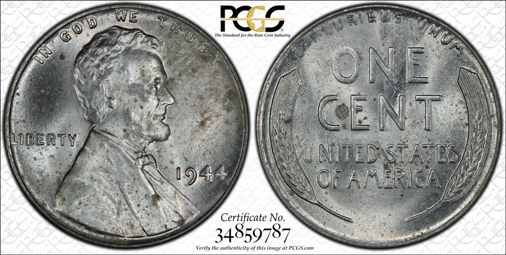 Bronze 1943 Lincoln cent sells for over one million dollars