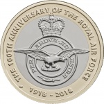 United Kingdom: New £2 coin celebrates the centenary anniversary of the Royal Air Force