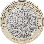 United Kingdom: Centenary anniversary of the end of the Great War observed with new £2 coin