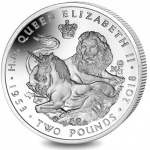 British Indian Ocean Territory: Beautiful lion and unicorn depicted on coronation anniversary crown coin
